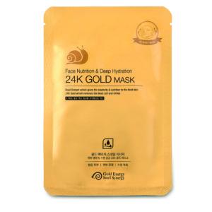 Увлажняющая маска с улиточным муцином Gold 24 Snail Mask Face Nutricion & Deep Hydration, 10 шт.