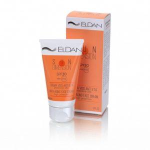 Солнцезащитный омолаживающий крем для лица SPF 30+ ELDAN_1