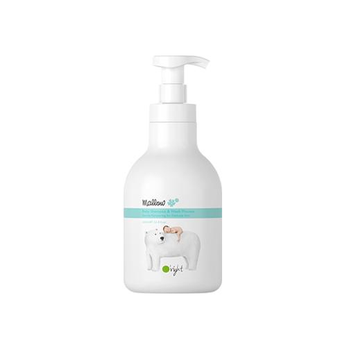 """Детский органический шампунь и мусс для душа для нежной и чувствительной кожи малыша """"Мальва"""" O'RIGHT, 650 мл"""