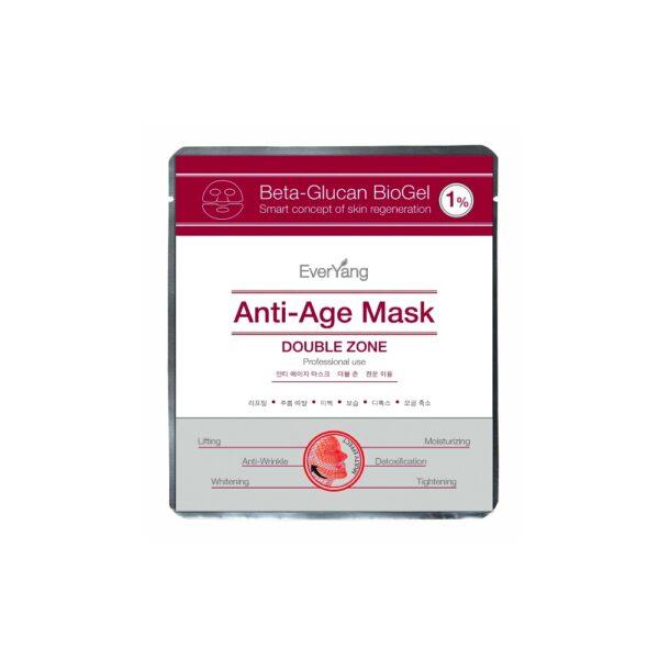 Омолаживающая лифтинг-маска для лица и глаз Beta-Glucan BioGel 1% Anti-Age Mask EVER YOUNG, 10 масок