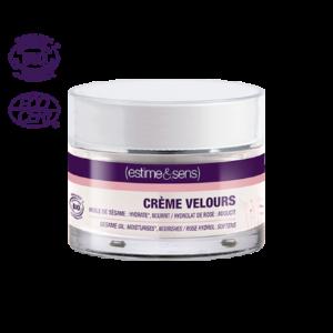 Успокаивающий крем велюр с кунжутом и гидролатом розы CREME VELOURS Estime&Sens, 30 ml.